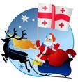 Merry Christmas Georgia vector image vector image