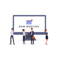 new meeting notification flat vector image vector image