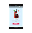 online order poster with bloody mary and whiskey vector image vector image