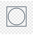 oval concept linear icon isolated on transparent vector image vector image