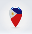 Philippines icon point for map vector image vector image