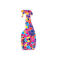 plastic bottle for cleaning stained glass vector image