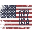 Presidents Day USA Text on colorful grunge Flag vector image vector image