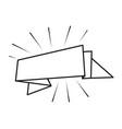 ribbon banner cartoon vector image vector image