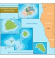 Saint Helena Ascension and Tristan da Cunha map vector image vector image
