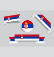 serbian flag stickers and labels vector image vector image