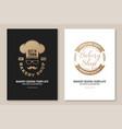 set bakery shop badge concept for vector image