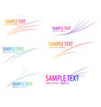 set of abstract icons vector image vector image