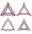 set of guilloche triangular elements for design