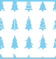 simple christmas seamless pattern with blue vector image vector image