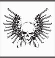 skull guns vector image