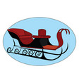 snow sleigh on white background vector image