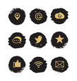 social media and network grunge icons vector image vector image