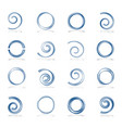 spiral and circle design elements vector image vector image