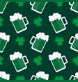 st patricks day seamless pattern background vector image