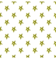 Star crossed pattern cartoon style vector image vector image