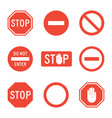 stop signs set vector image vector image