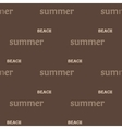 Summer text seamless pattern vector image