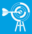 target with an arrow icon white vector image vector image