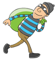 Thief cartoon vector image vector image
