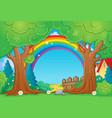 tree theme landscape 4 vector image vector image