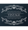 vintage frame Royal retro ornament decor black vector image vector image