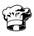 vintage monochrome chef hat template vector image