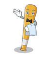 waiter baseball bat character cartoon vector image vector image