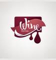 wine fest red sticker logo emblems label vector image vector image