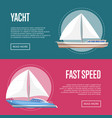 yachting and cruising yachts flyers with sailboats vector image vector image
