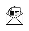 black mail icon vector image