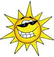 Hot Sun Cartoon Character vector image
