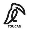 toucan abstract logo vector image