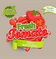 fresh tomato logo vector image