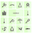 14 handle icons vector image vector image