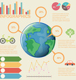 A colourful infographics vector image vector image