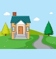 a simple house in nature background vector image vector image