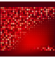 Abstract Red Halftone Dots Background vector image vector image