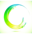 Abstract shining greencircle modern frame vector image vector image