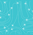 airplane routes icon on a blue background vector image vector image