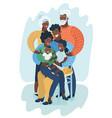 big happy black family vector image