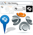 Business 3D team logo design vector image