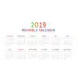 calendar 2019 with happy children vector image vector image