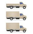cargo truck 08 vector image vector image
