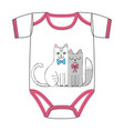 clothes for newborn cats in love vector image