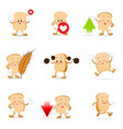 collection of bread cartoon eps 10 vector image vector image