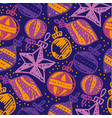 colorful xmas tree baubles seamless pattern vector image vector image