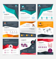company flyer templates set vector image