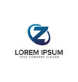 creative modern letter z logo design concept vector image