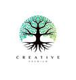 creative tree logo design vector image